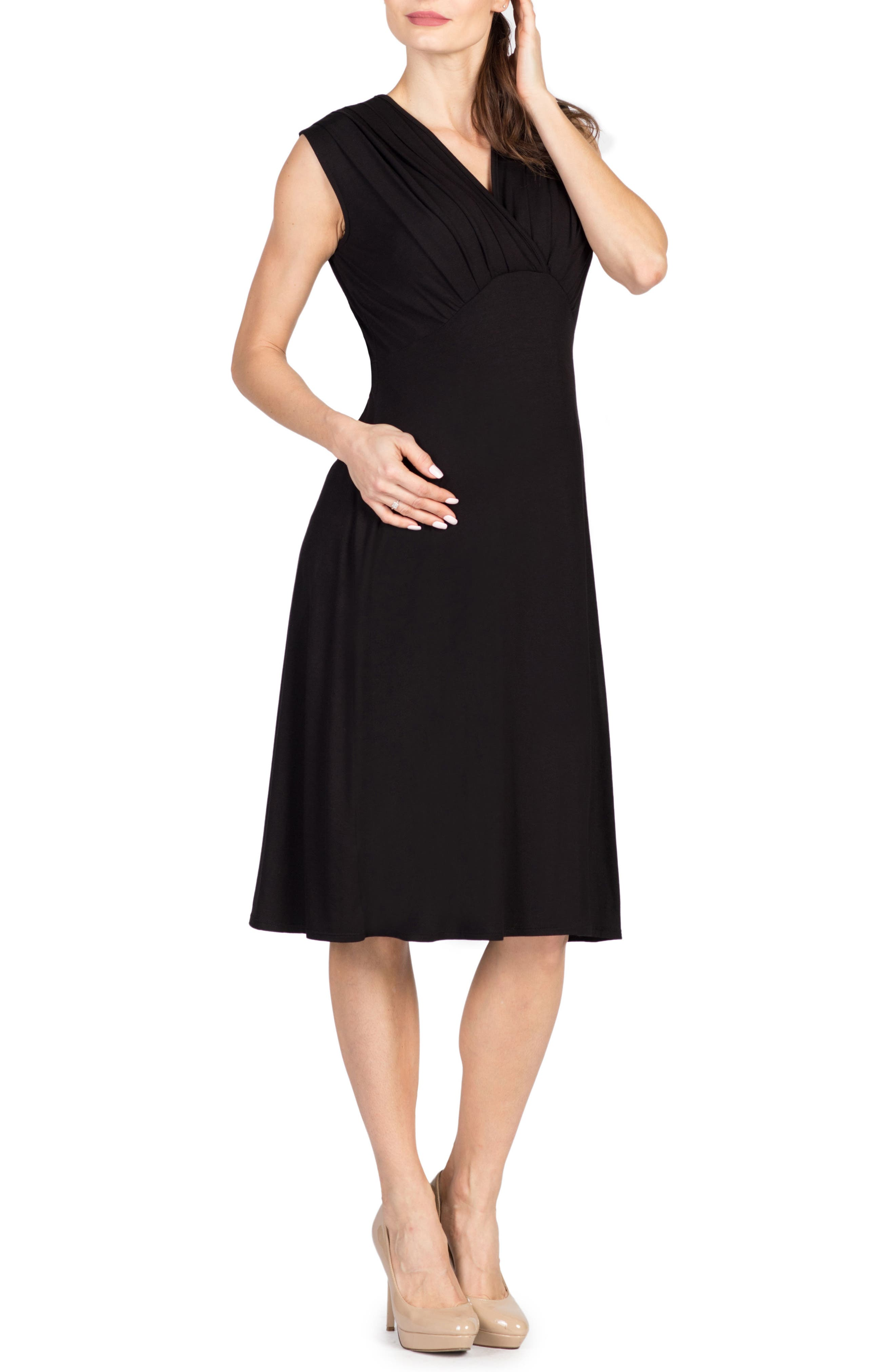 Savi Mom Valencia Maternity/nursing Dress, Black