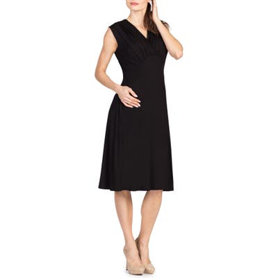 Savi Mom Valencia Maternity/nursing Dress, Black