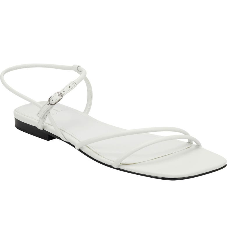 MARC FISHER LTD Marg Sandal, Main, color, WHITE LEATHER