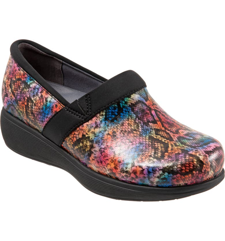 SOFTWALK<SUP>®</SUP> Meredith Sport Clog, Main, color, SNAKE PRINT LEATHER