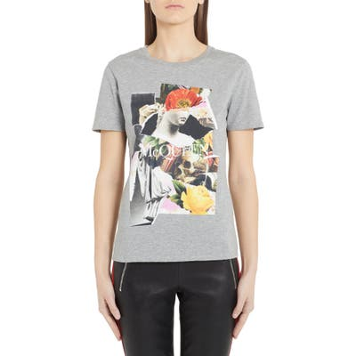 Alexander Mcqueen Collage Cotton Tee, 6 IT - Grey