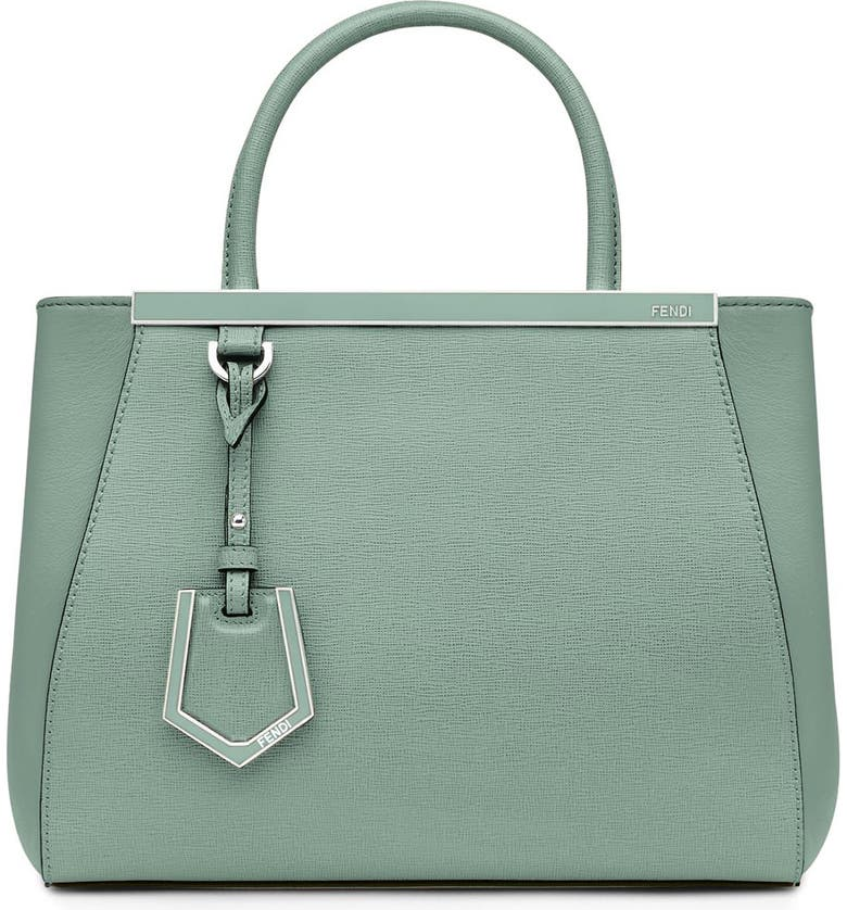 FENDI 'Petite 2Jours Elite' Leather Shopper, Main, color, 439