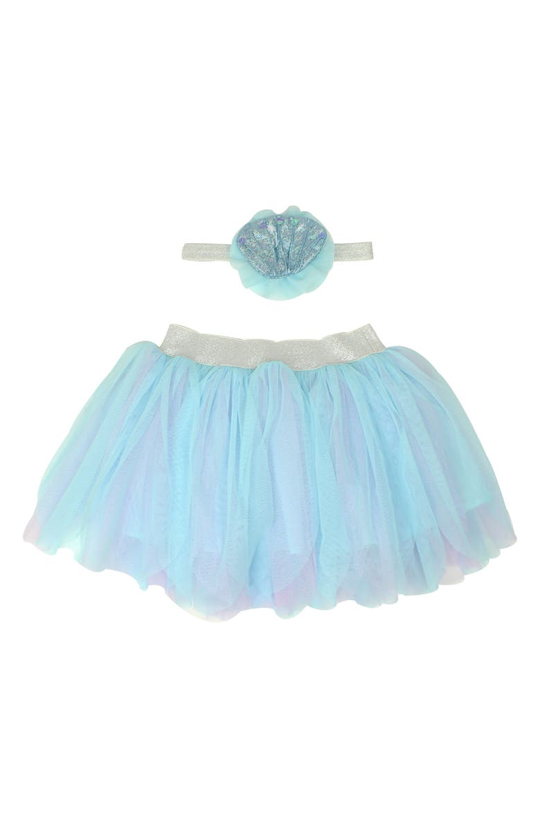 POPATU Mermaid Tutu Skirt & Headband Set, Main, color, 450