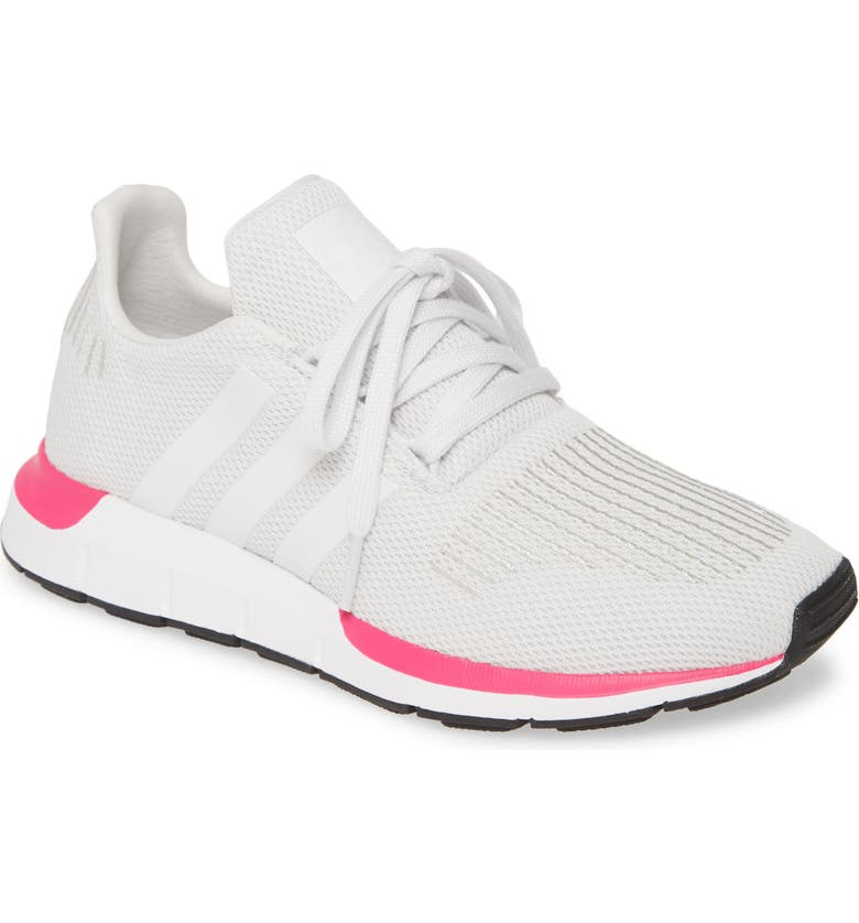 ADIDAS Swift Run Sneaker, Main, color, CRYSTAL WHITE/ WHITE/ BLACK