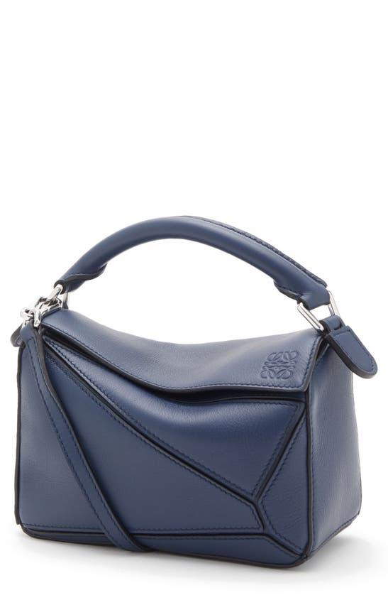 Loewe Puzzle Small Shoulder Bag In 5543 Ocean
