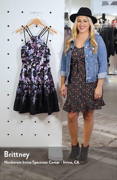 Mikado Floral Fit & Flare Dress, sales video thumbnail