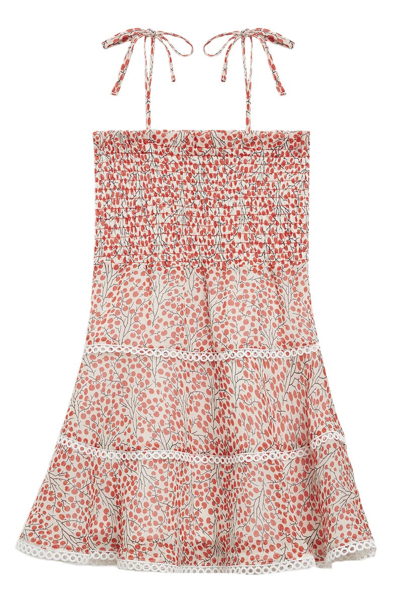 BARDOT Junior Cindy Smocked Sundress, Main, color, CHERRY PRINT
