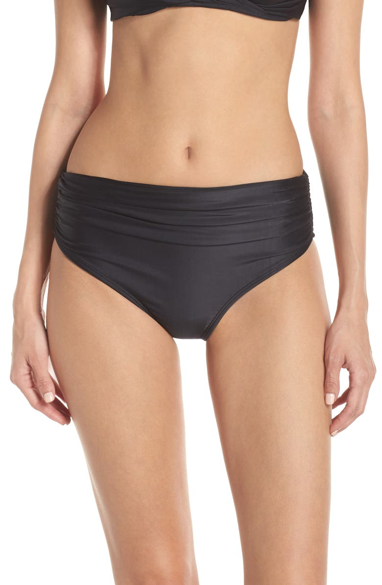 LENNY NIEMEYER High Waist Bikini Bottoms, Main, color, BLACK