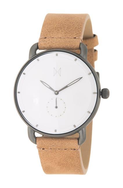 Image of MVMT Men's Biscayne Leather Strap Watch, 42mm