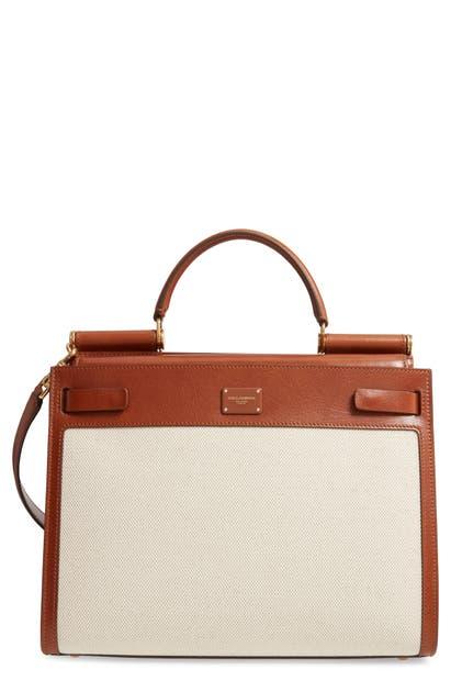 Dolce & Gabbana Shoulder-bags LARGE SICILY 62 CANVAS & LEATHER SATCHEL