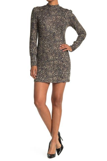 Abound Women's Cozy Mock Neck Long Sleeve Knit Dress