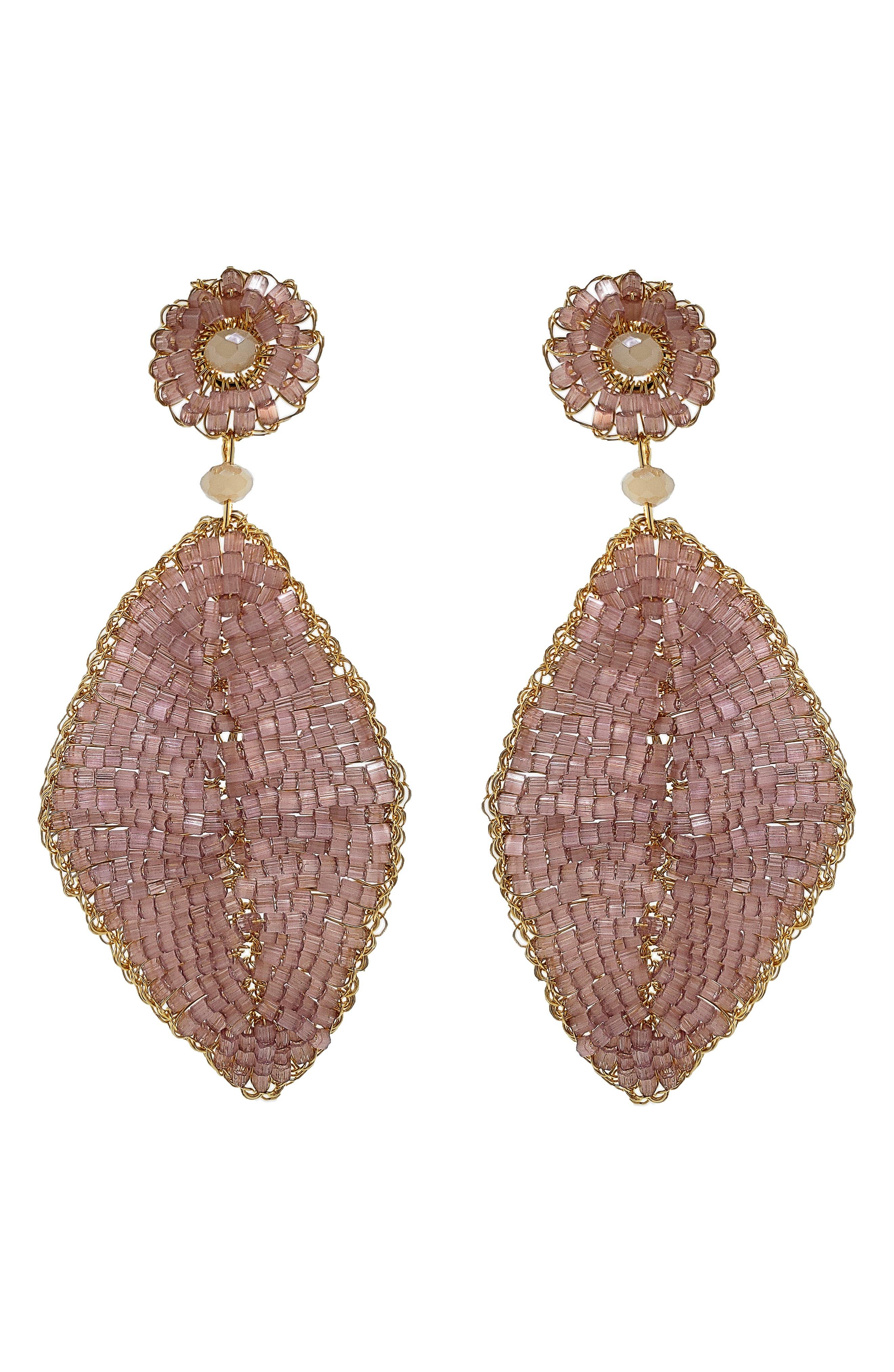 Blossom Beaded Drop Earrings