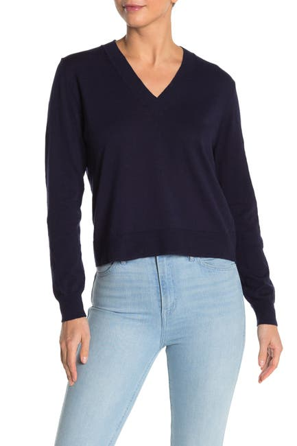 Image of J. Crew Slub Knit V-Neck Sweater