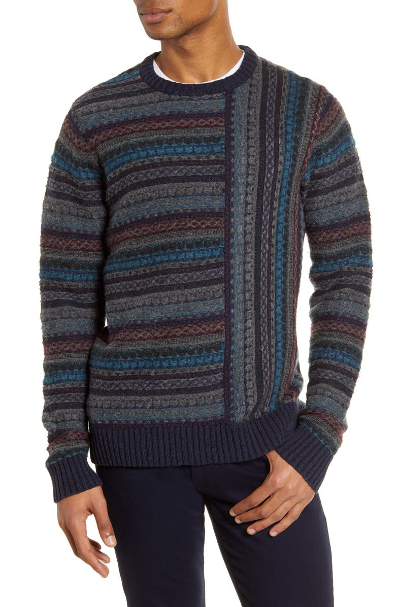 FRENCH CONNECTION Fair Isle Regular Fit Sweater, Main, color, 421