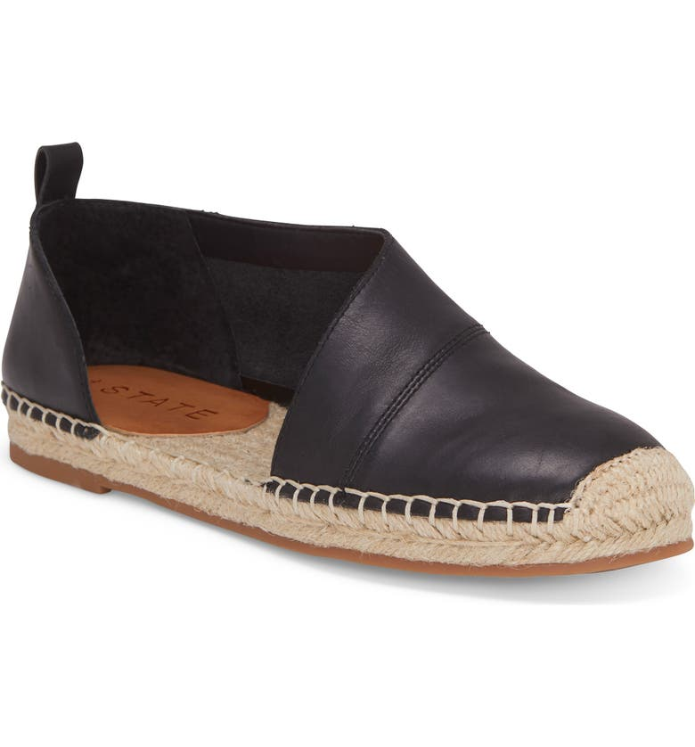 1.STATE Dela Espadrille Flat, Main, color, BLACK LEATHER