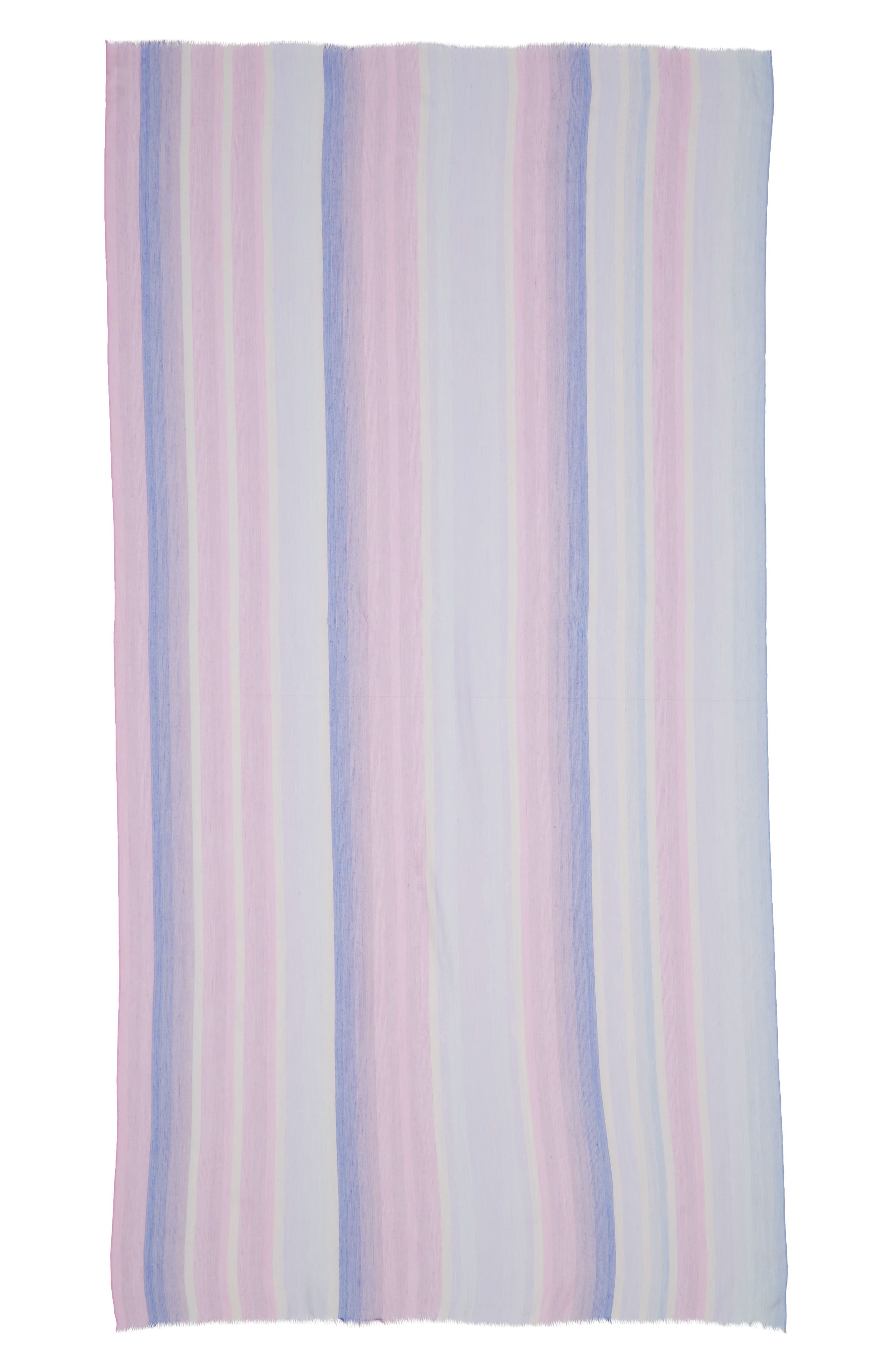 ,                             Yarn Dyed Stripe Wrap,                             Alternate thumbnail 3, color,                             PURPLE COMBO UNICORN STRIPE