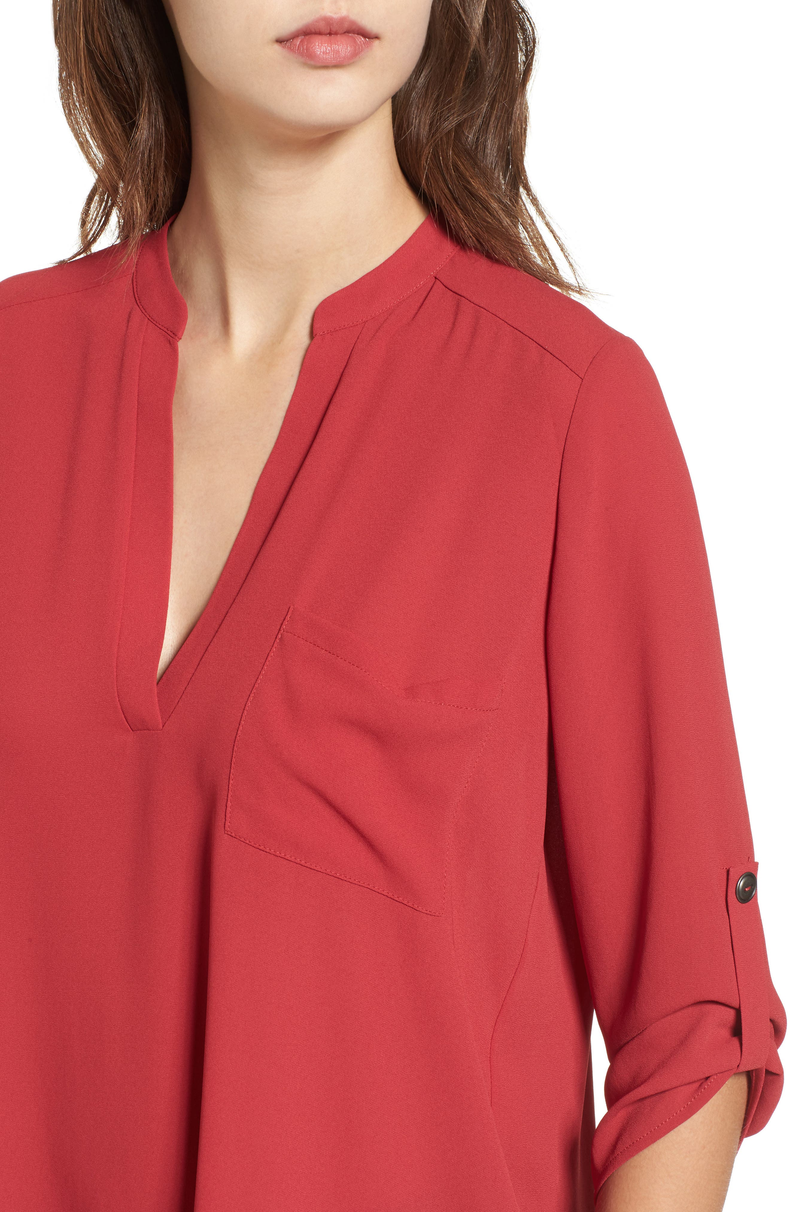 ,                             Perfect Roll Tab Sleeve Tunic,                             Alternate thumbnail 445, color,                             933