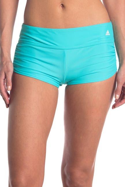 Image of ADIDAS SWIMWEAR Shirred Swim Shorts