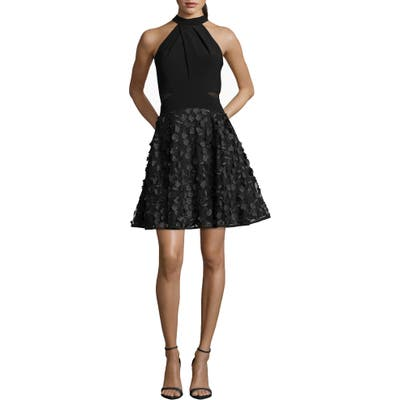 Xscape 3D Floral Party Dress