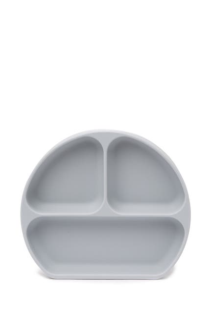 Image of Bumkins Gray Silicone Grip Dish