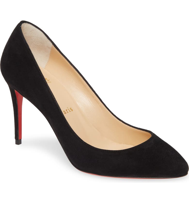 CHRISTIAN LOUBOUTIN Eloise Pump, Main, color, BLACK SUEDE