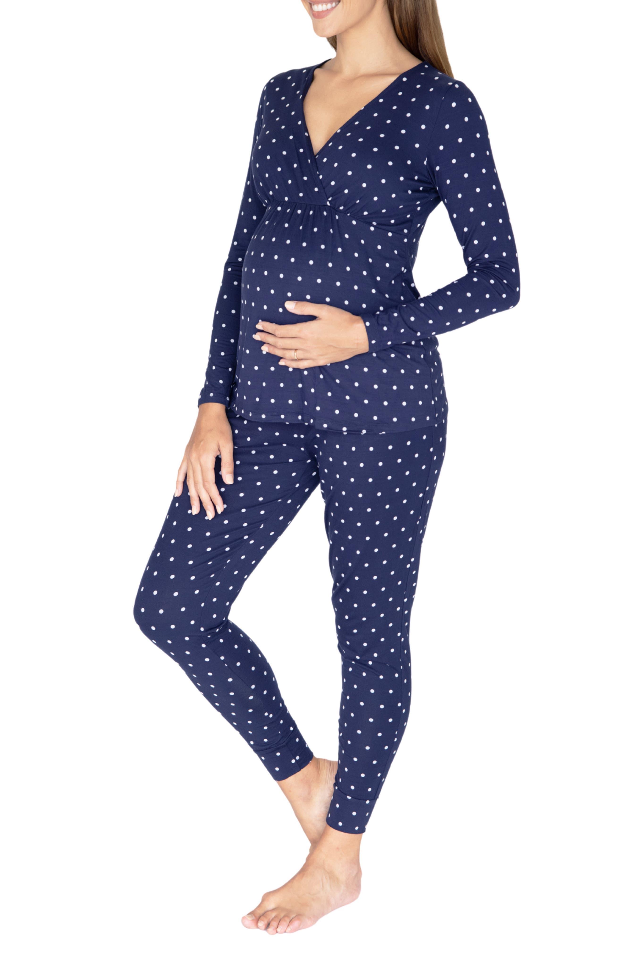 Polka Dot Maternity/nursing Pajamas