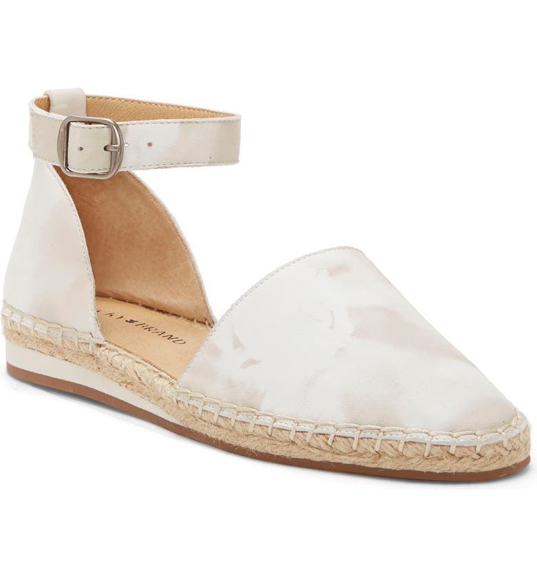 LUCKY BRAND Reniya Ankle Strap Flat, Main, color, TAUPE FABRIC