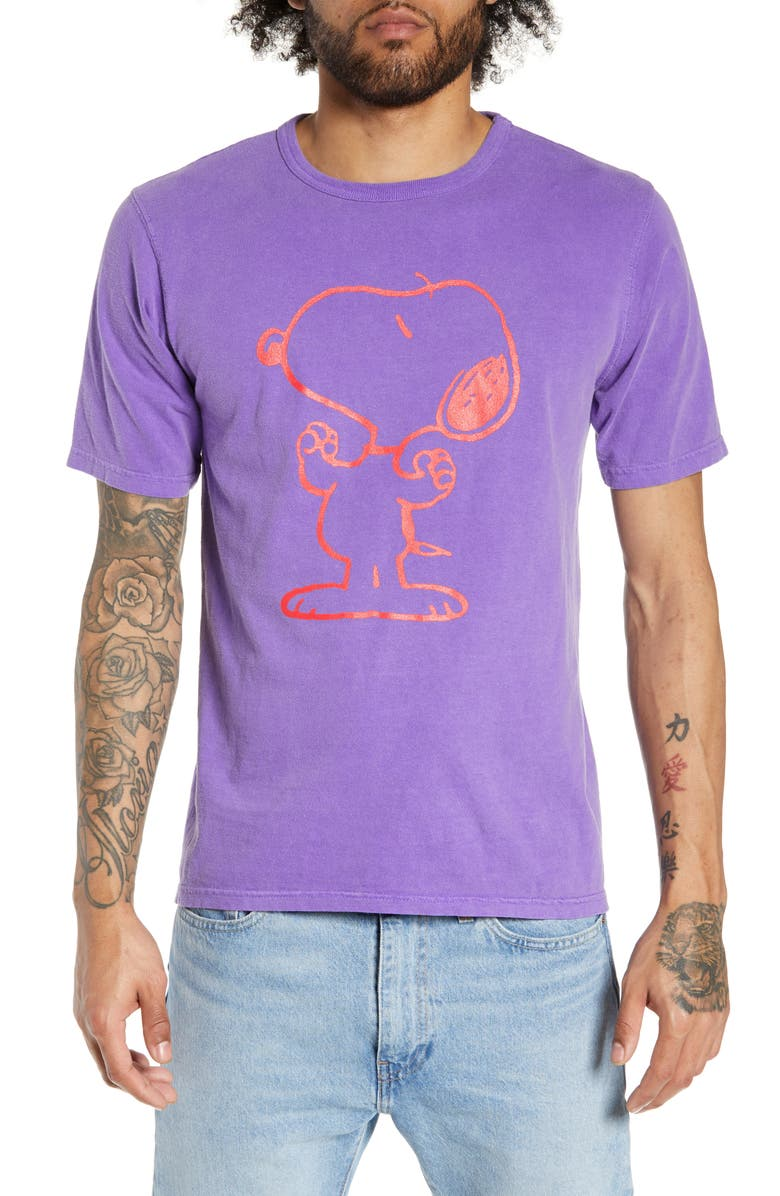CHAMPION Heritage Snoopy T-Shirt, Main, color, VIOLET