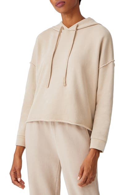Eileen Fisher CROP ORGANIC COTTON HOODIE