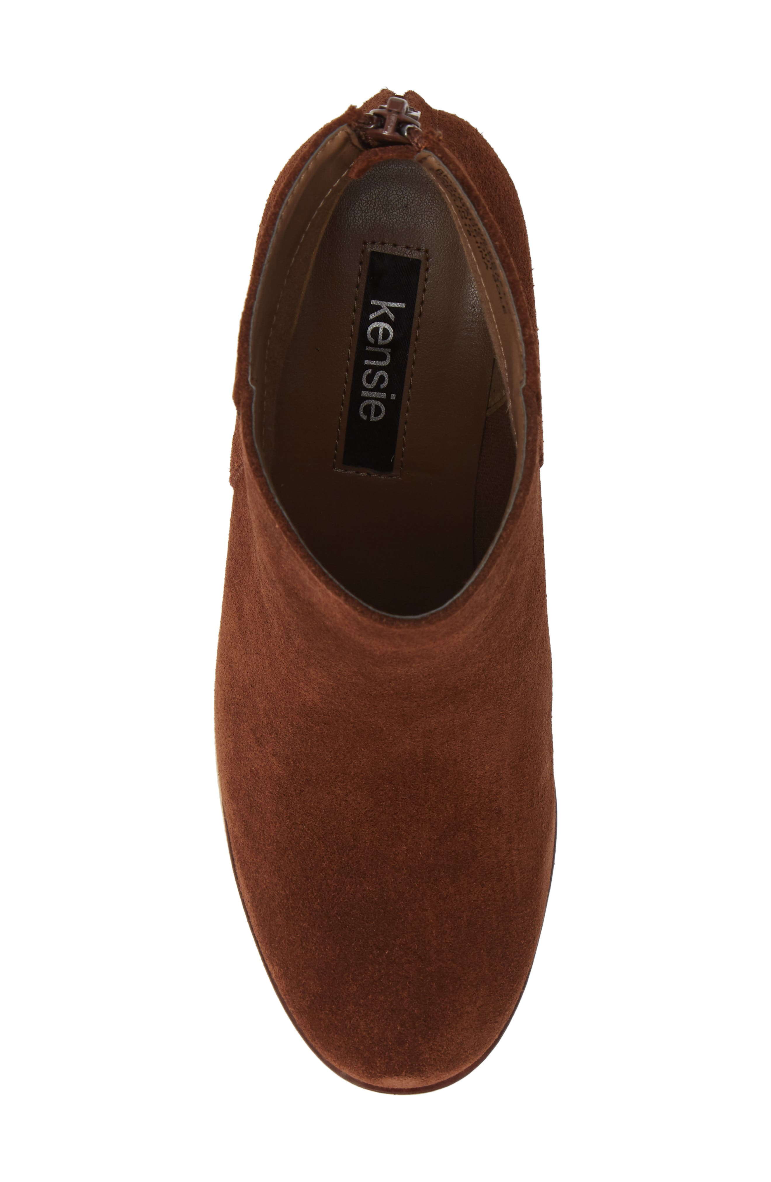 ,                             Higgins Wedge Bootie,                             Alternate thumbnail 5, color,                             WALNUT SUEDE