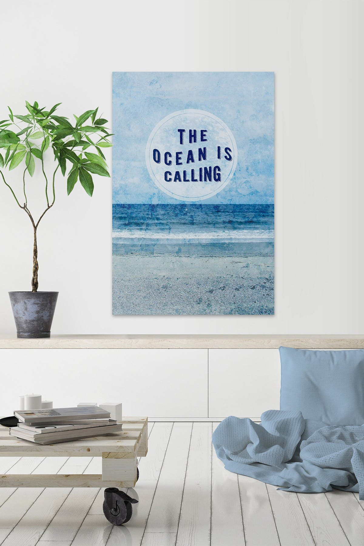 """Image of Marmont Hill Inc. Paradise Sentiment II Painting Print on Wrapped Canvas - 36"""" x 24"""""""