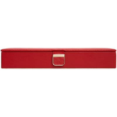 Wolf Palermo Safe Deposit Jewelry Box - Red