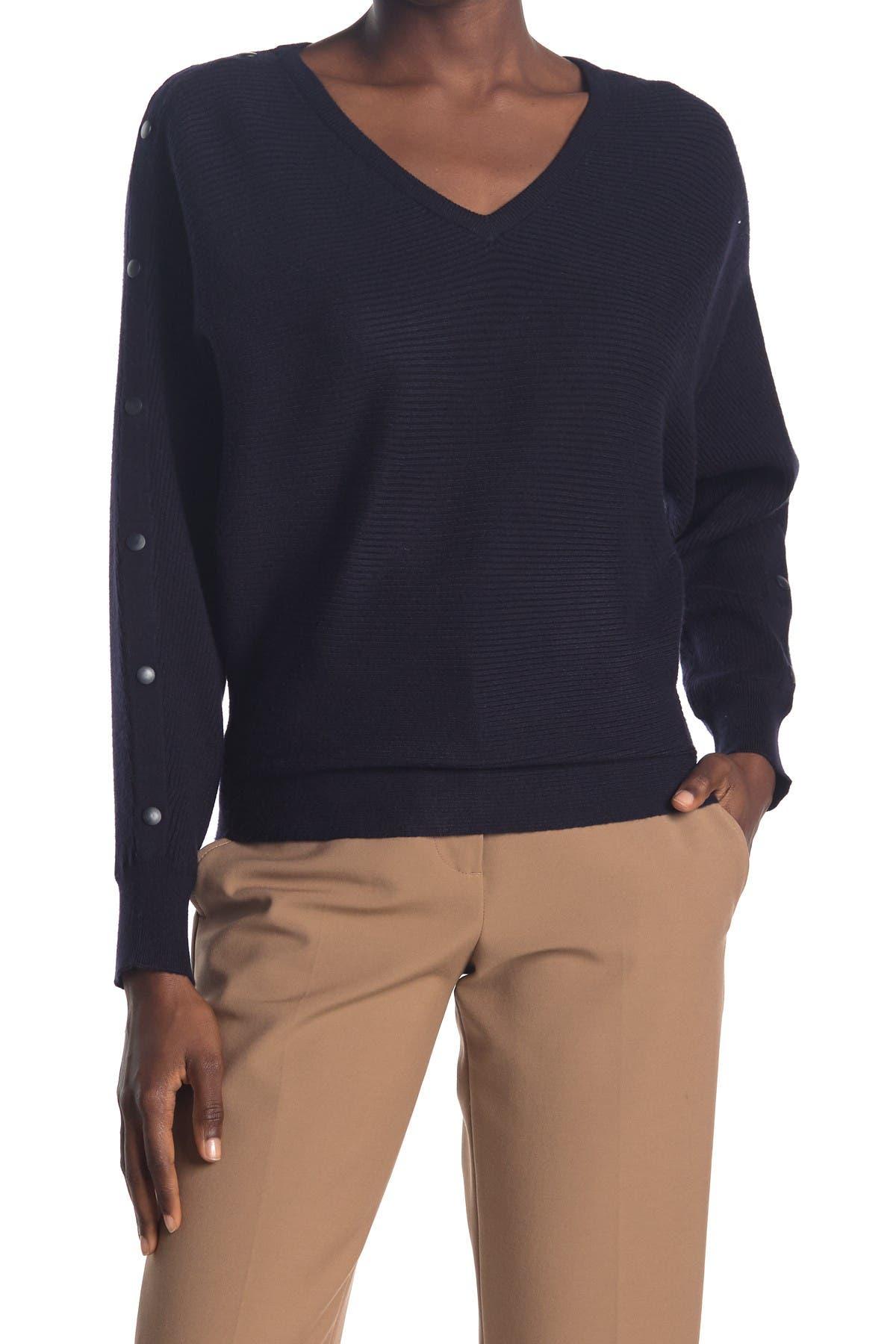 Image of T Tahari Dolman V-Neck Sweater