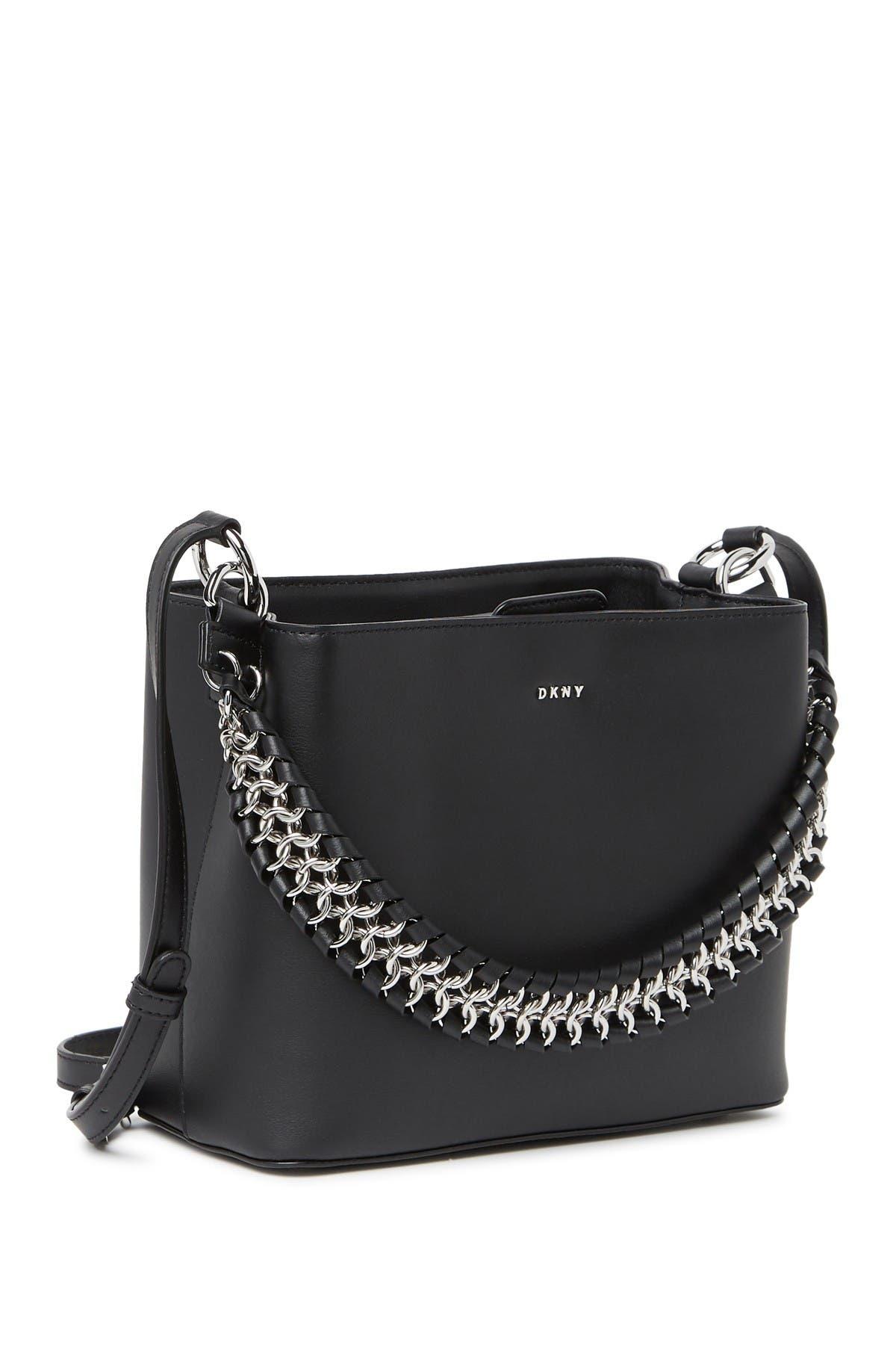 Image of DKNY Bethune Small Leather Bucket Bag