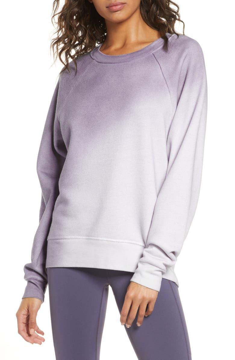 ZELLA Jamie Spray Dye Sweatshirt, Main, color, 021
