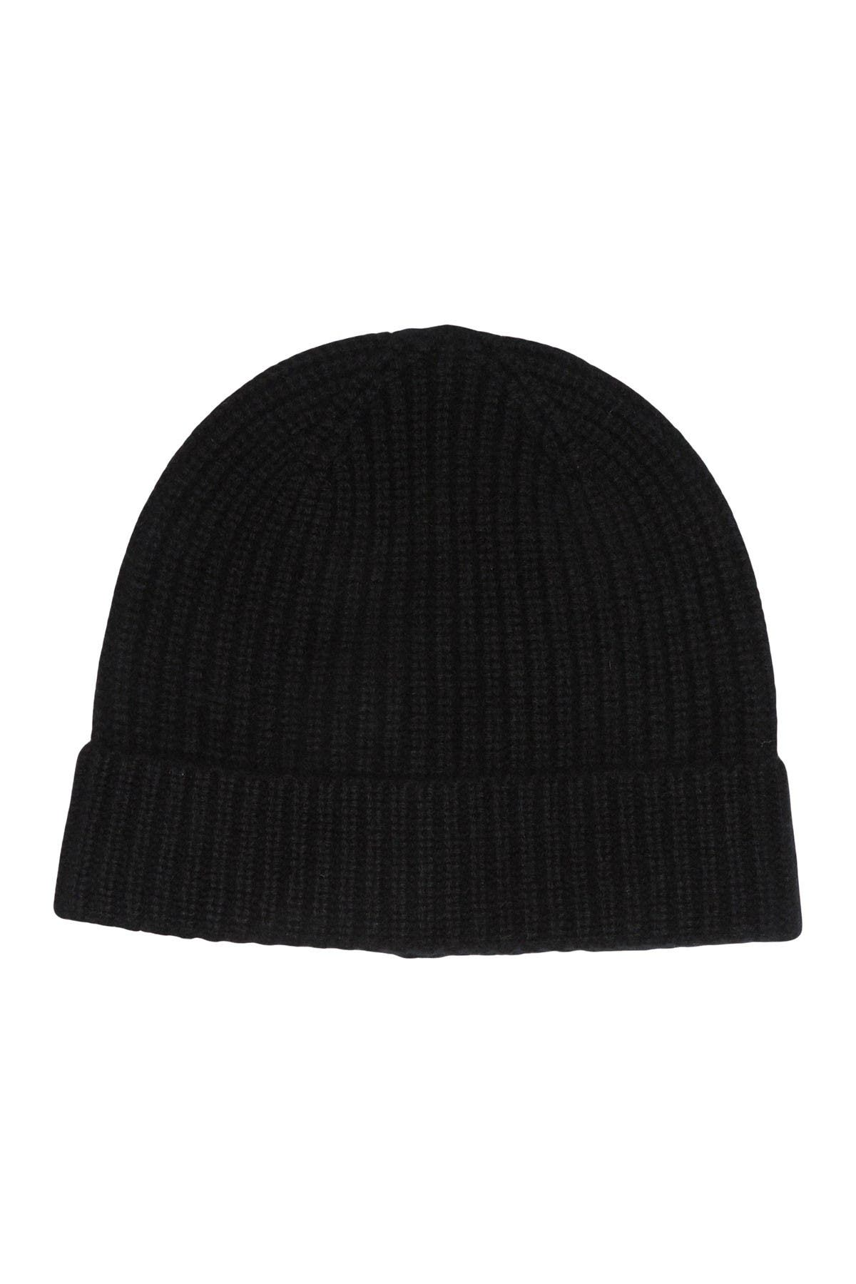 Image of Hickey Freeman Cashmere Ribbed Cuff Beanie