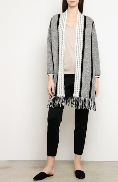 Linear Basket Stripe Knit Cardigan, video thumbnail