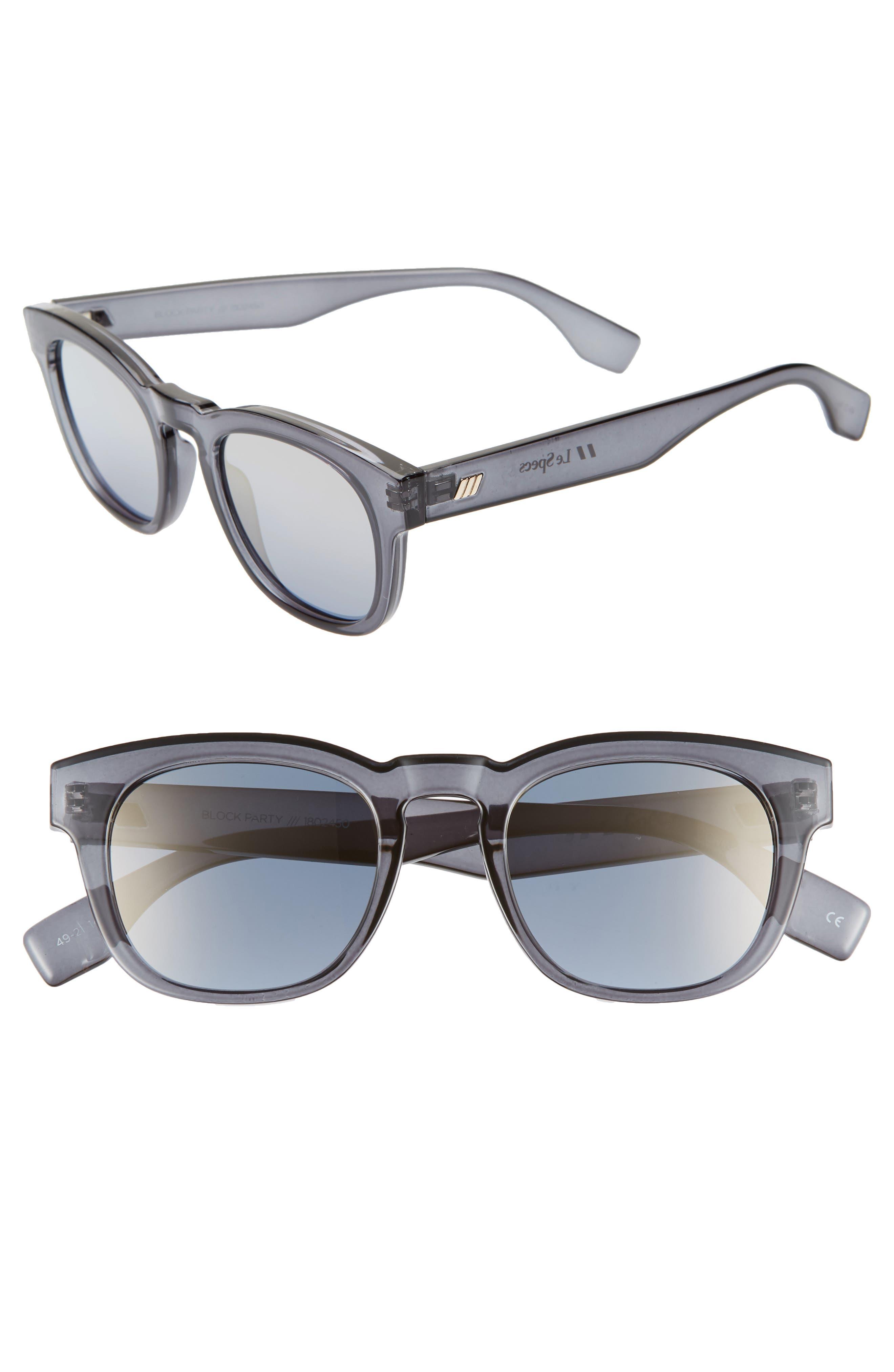 Le Specs Block Party 4m Round Sunglasses - Slate