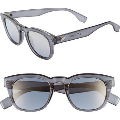 Le Specs Block Party Round Sunglasses - Slate