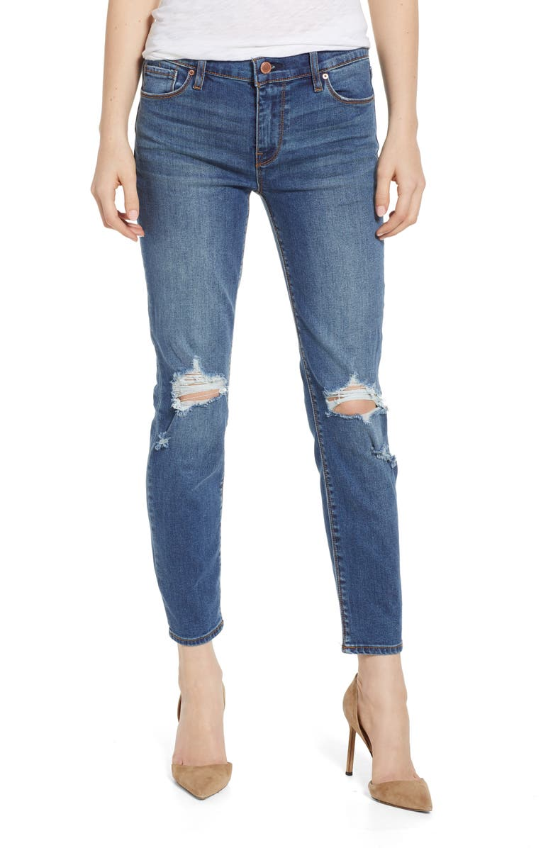 HUDSON JEANS Tally Ripped Crop Skinny Jeans, Main, color, B-GOOD
