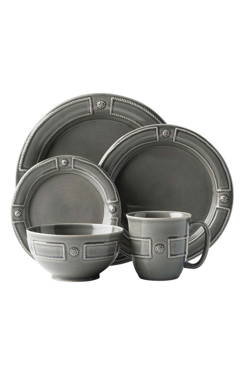 JULISKA Berry & Thread French Panel 5-Piece Place Setting, Main, color, STONE GREY