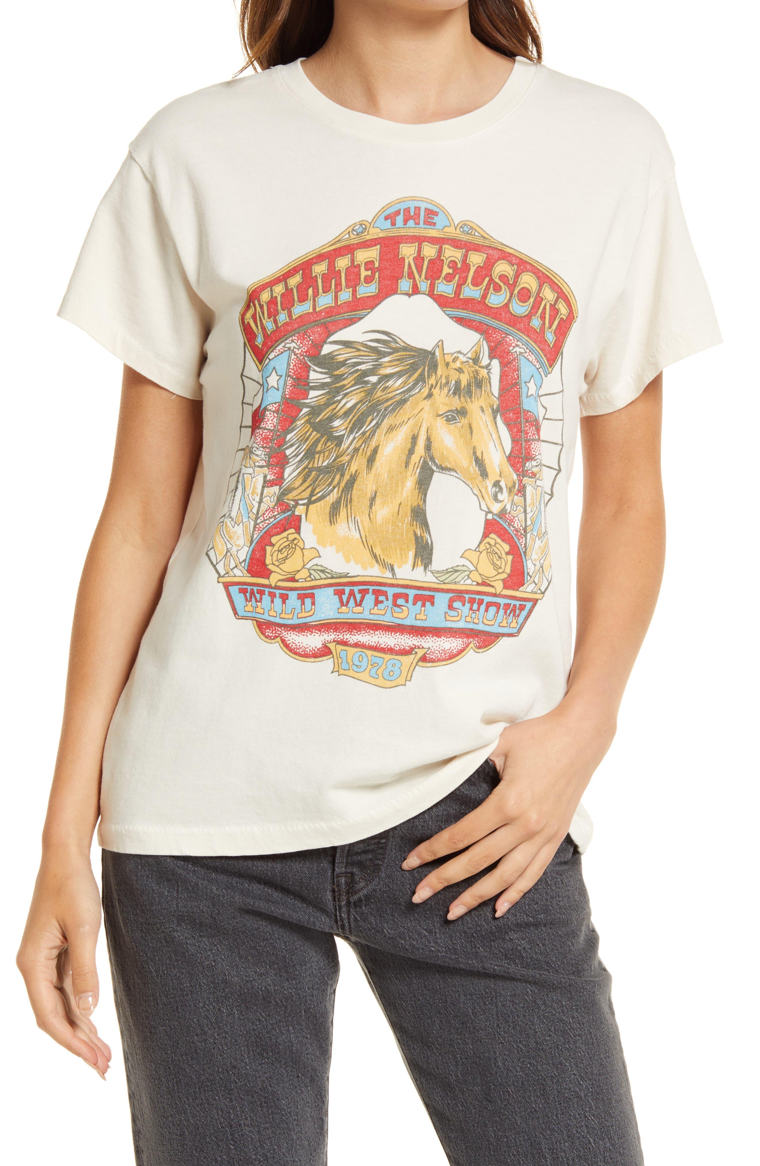 Willie Nelson Wild West Cotton Graphic Tee