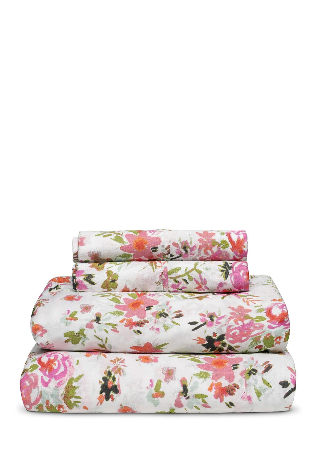 Image of Melange Home 300 Thread Count Wild Love Multi Queen Sheet Set