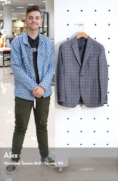 Trim Fit Plaid Wool Blend Sport Coat, sales video thumbnail