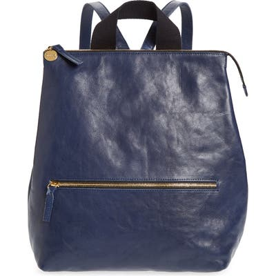 Clare V. Remi Leather Backpack - Blue