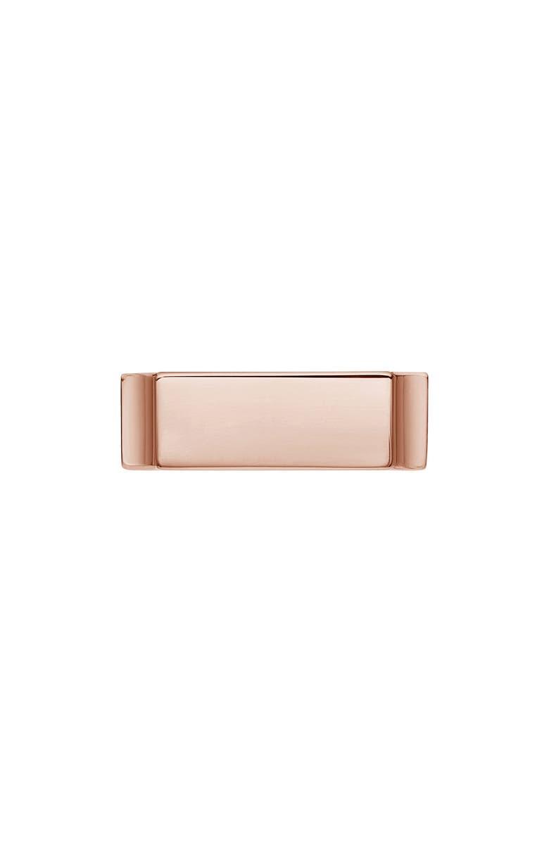 MONICA VINADER Engravable Wide Signature Ring, Main, color, ROSE GOLD