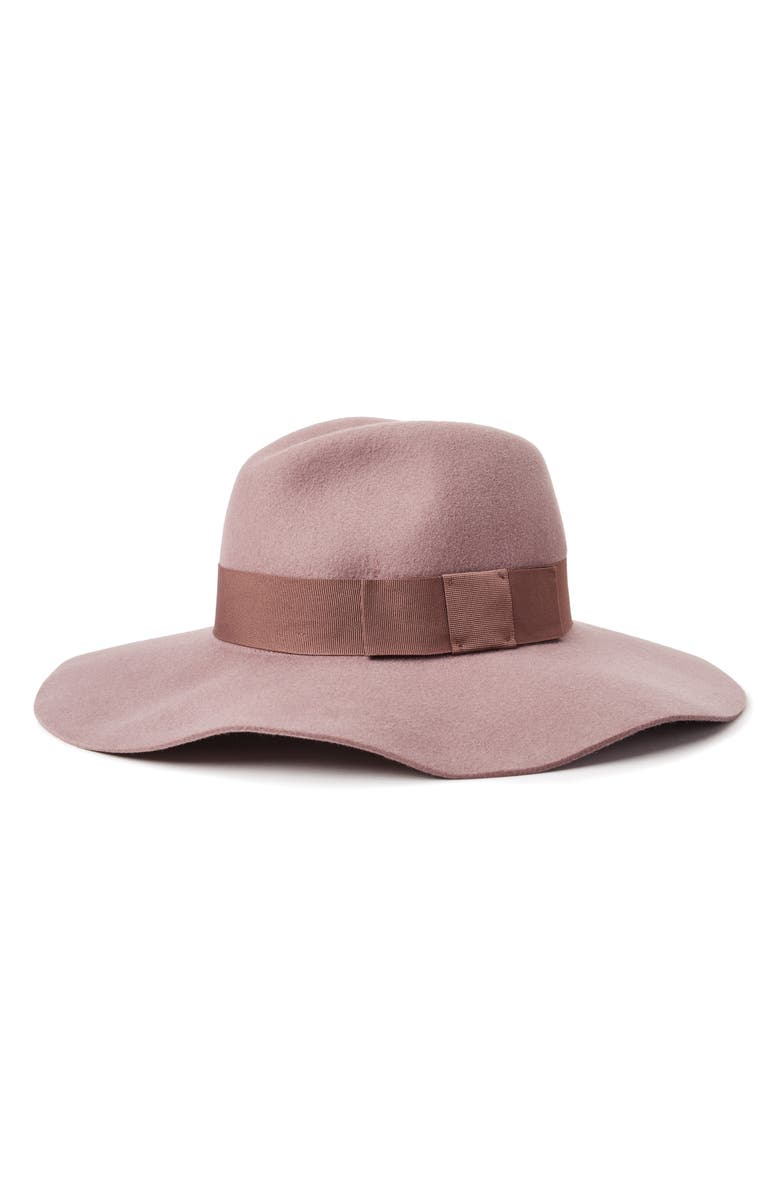 BRIXTON 'Piper' Floppy Wool Hat, Main, color, MAUVE