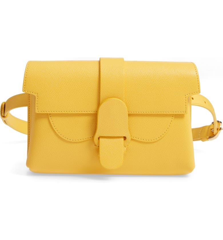 SENREVE Aria Leather Belt Bag, Main, color, DANDELION