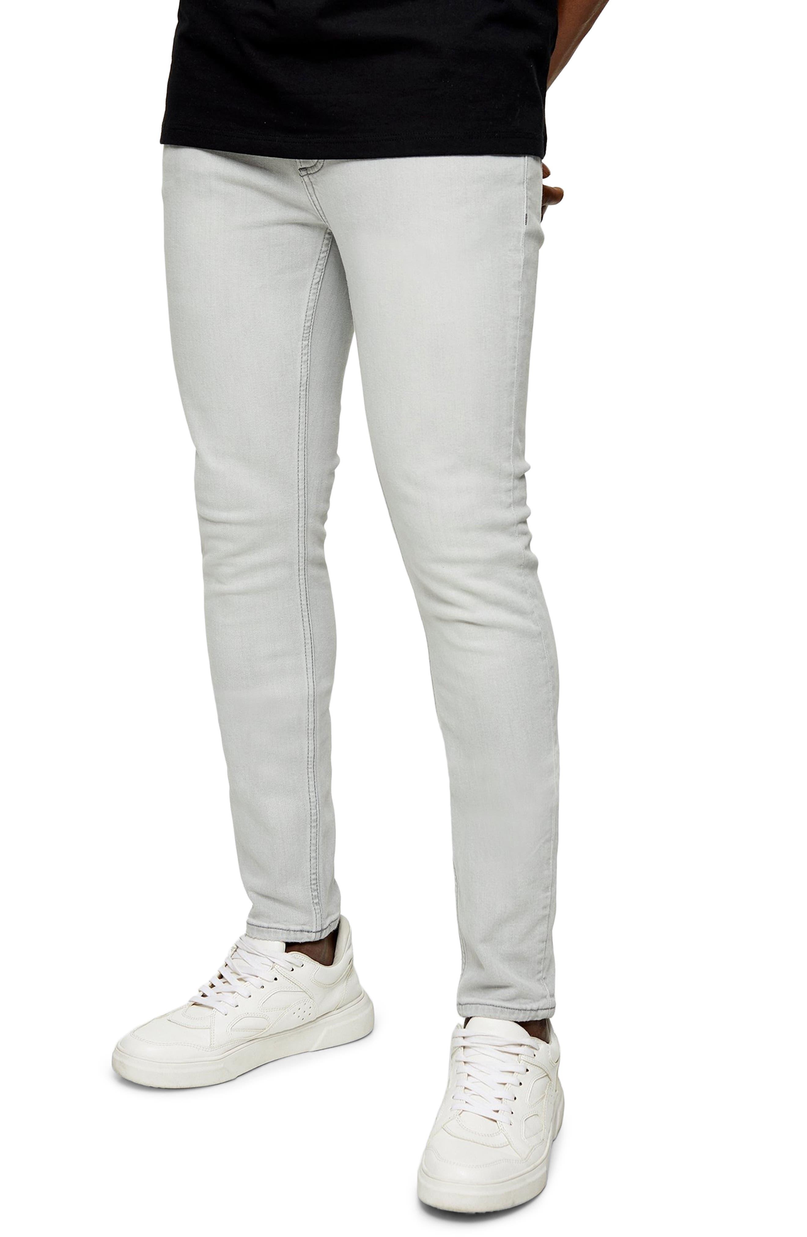 Men's Topman Skinny Jeans,  30 x 30 - Grey