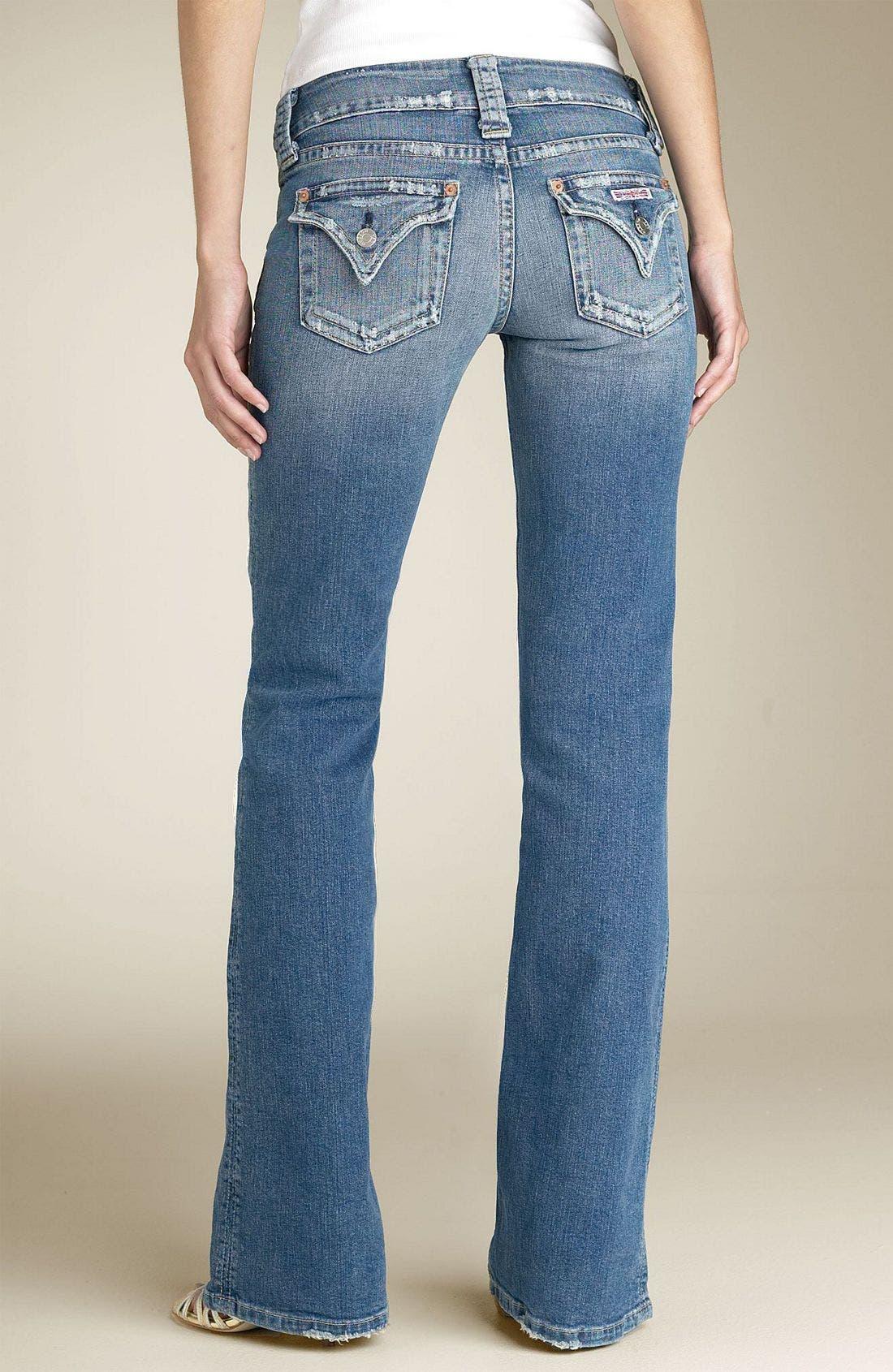 ,                             Signature Flap Pocket Bootcut Jeans,                             Alternate thumbnail 100, color,                             FVI